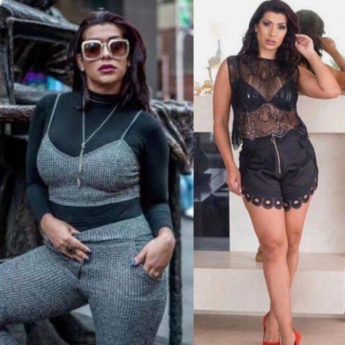 Ellen Cardoso Moranguinho antes e depois